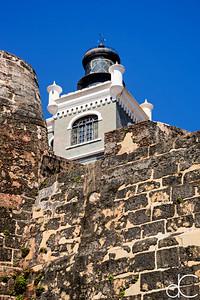 Faro del Castillo San Felipe del Morro, Old San Juan, Puerto Rico, June 2019.