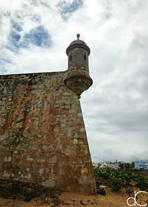 Garita and Fortress Wall, Castillo San Felipe del Morro, Old San Juan, Puerto Rico, May 2018.