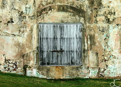Wooden Door, Castillo San Felipe del Morro, Old San Juan, Puerto Rico, May 2018.