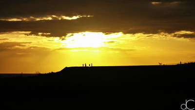 Sunset Approaching El Morro, Castillo San Felipe del Morro, Old San Juan, Puerto Rico, May 2018.