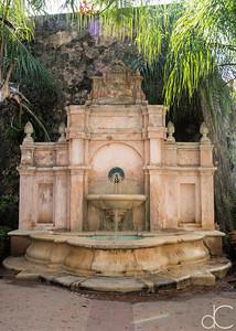 Fountain, Old Town Princesa Park, Old San Juan, Puerto Rico, June 2019.