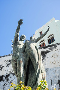 Intellectual Heritage, Plaza of the Heritage of the Americas, Old San Juan, Puerto Rico, June 2019.