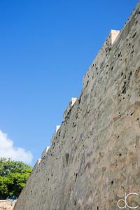 The City Wall go Old San Juan, Puerto Rico, June 2019.