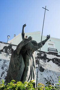 Heritage of Faith, Plaza of the Heritage of the Americas, Old San Juan, Puerto Rico, June 2019.