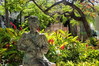 Statue of Felisa Rincon de Gautier, Old Town Princesa Park, Old San Juan, Puerto Rico, June 2019.