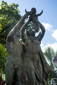 Hispanic Heritage, Plaza of the Heritage of the Americas, Old San Juan, Puerto Rico, June 2019.