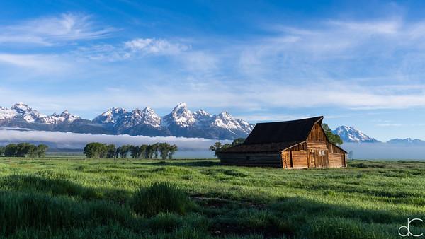 The T. A. Moulton Barn, Grand Teton National Park, June 2015.