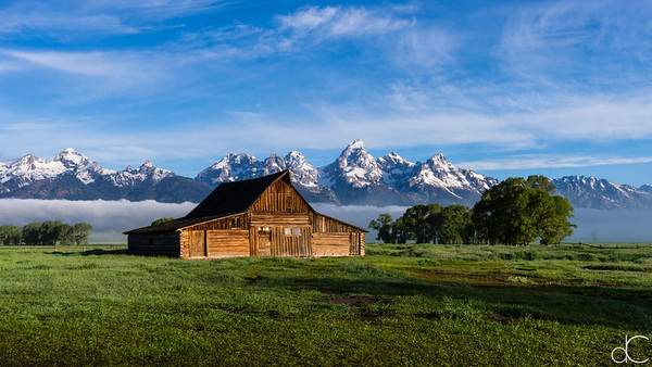 The T. A. Moulton Barn, Grand Teton National Park, June 2015.