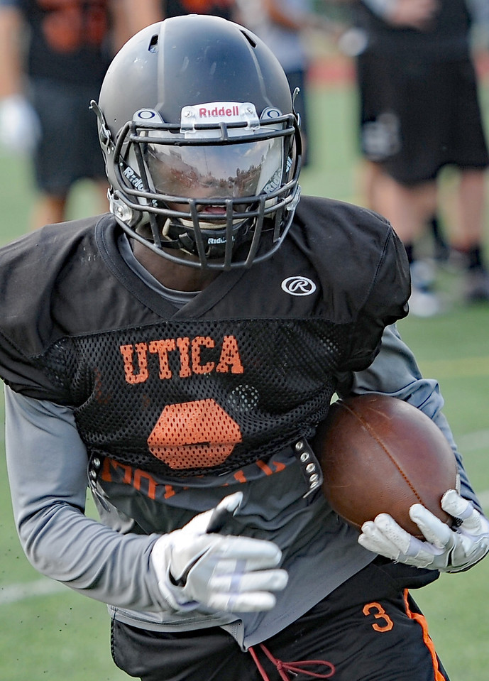 The Utica High School football team gets ready for the 2017 season. THE MACOMB DAILY PHOTO GALLERY BY DAVID DALTON