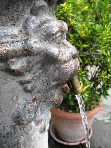 Fountain along the Bressagio, Murano.