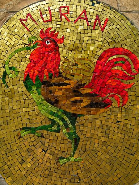 Mosaic of Murano glass.