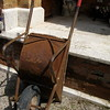 Rusted wheelbarrow at Isola di San Michele.