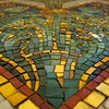 Mosaic of Murano glass.