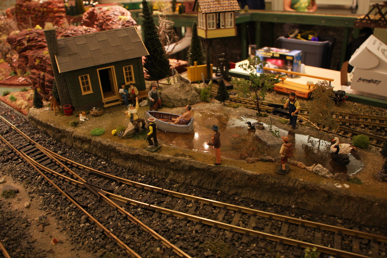 Villages railroad club display