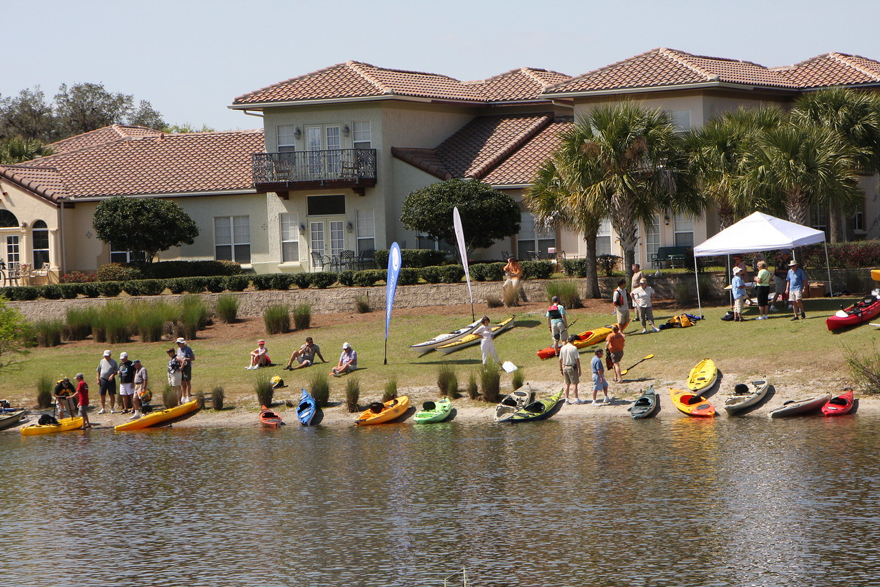 Kayakers trying different ones at the Villages Outdoor Expo