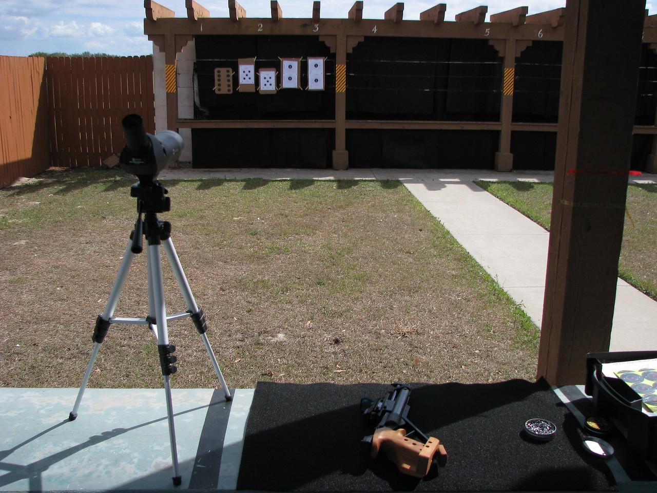 NRA certified, 10 meter, air gun range located in The Villages.