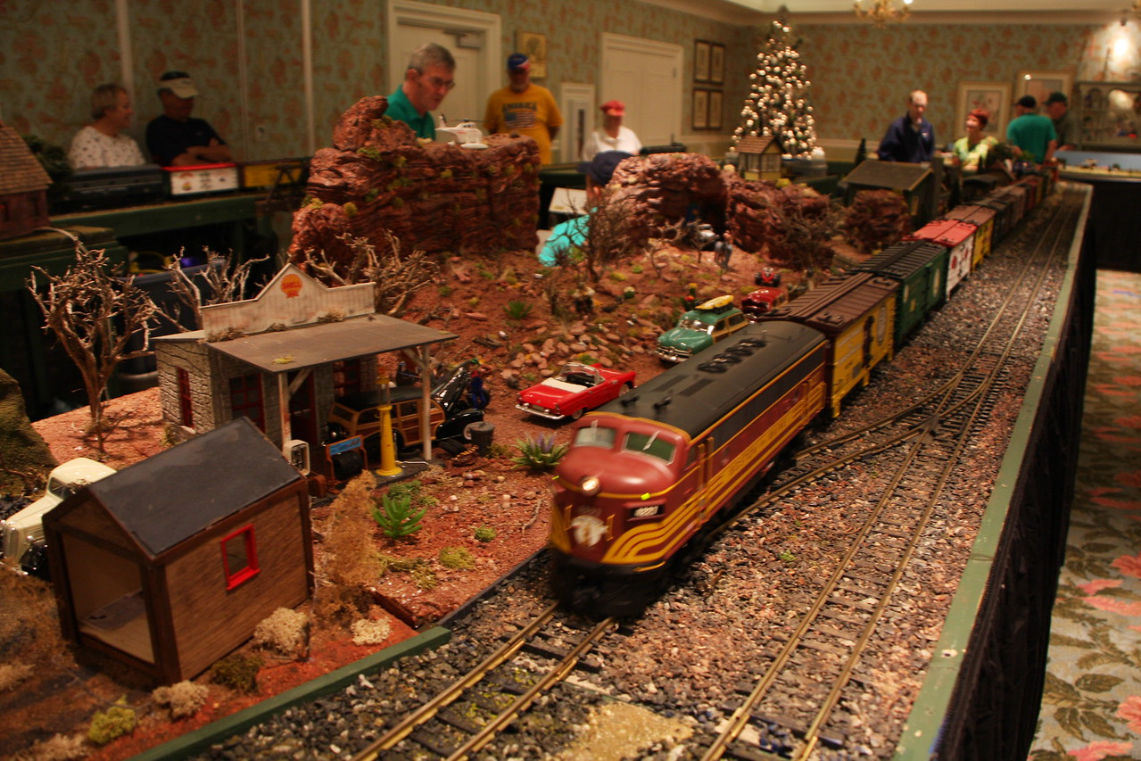 Villages railroad club display.