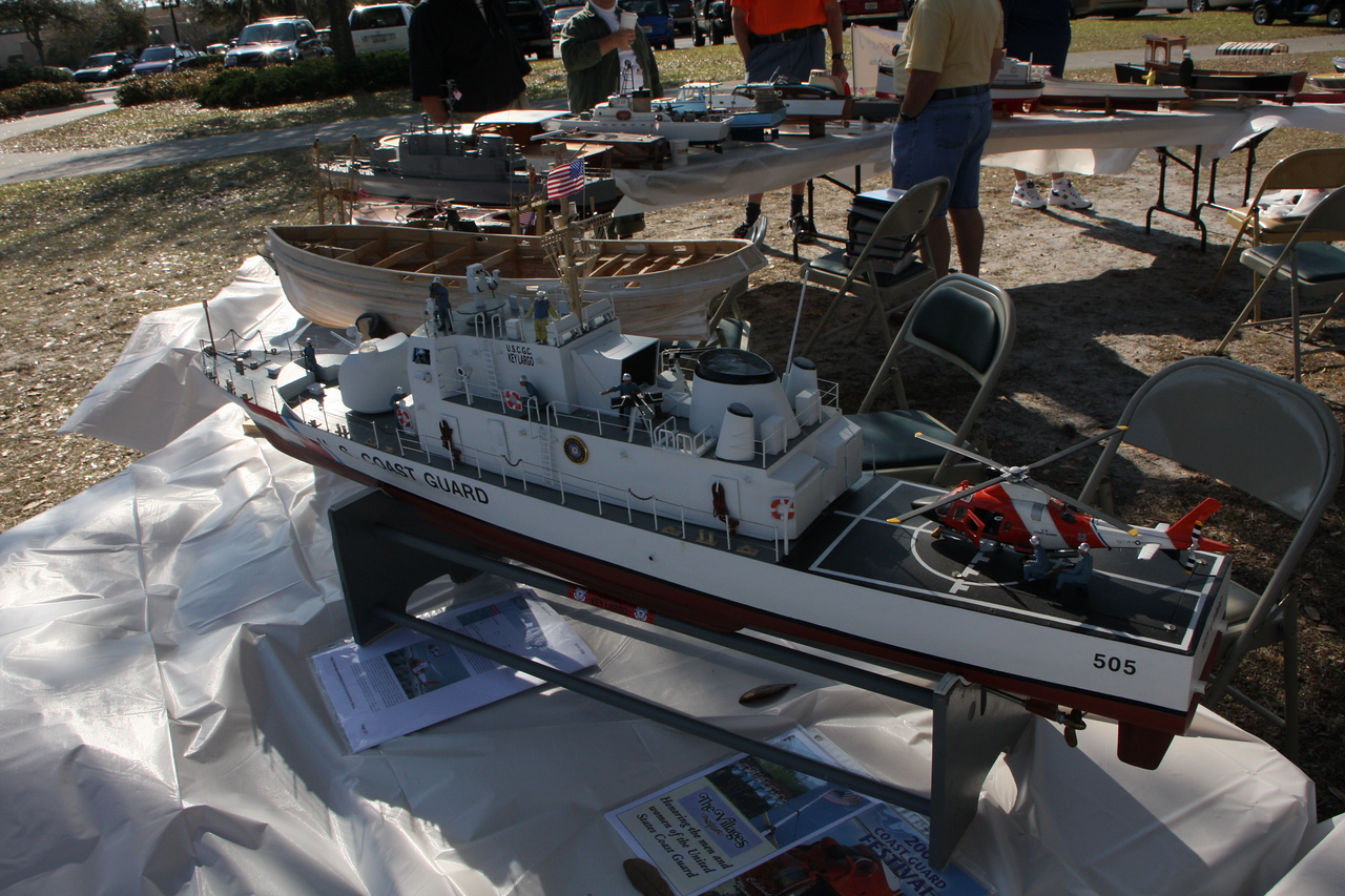 Working scale model of Coast Guard cutter.