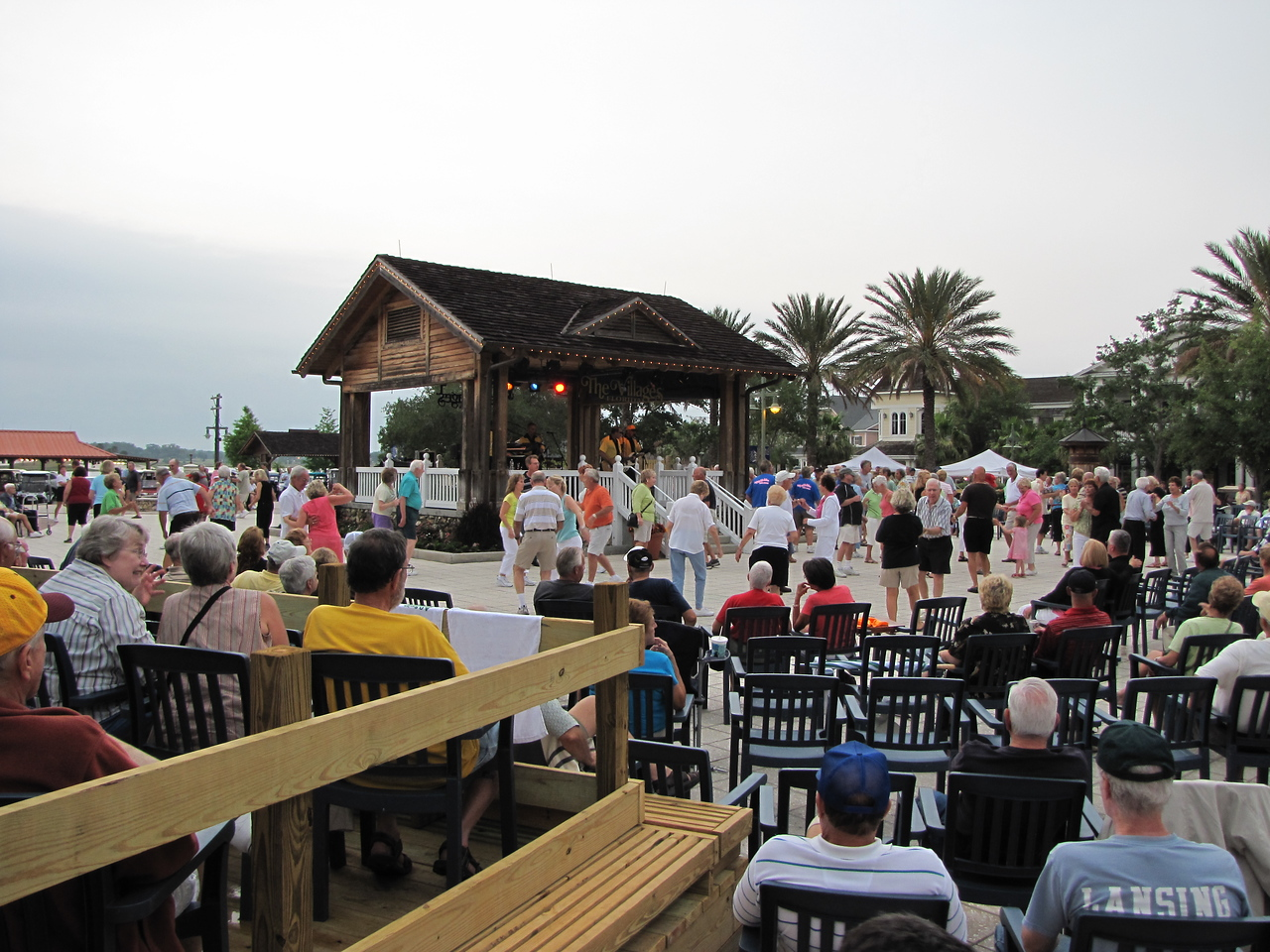Rocky & The Rollers a popular 50's & 60's band perform at Sumter Landing Town Square in The Villages.