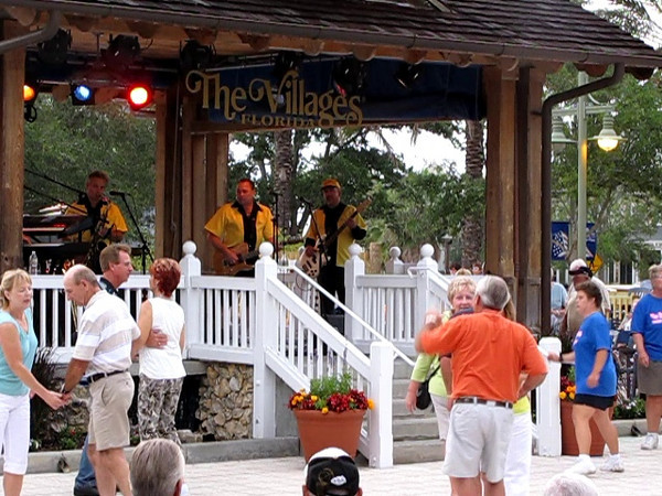 Rocky & The Rollers perform at Sumter Landing Town Square, in The Villages.