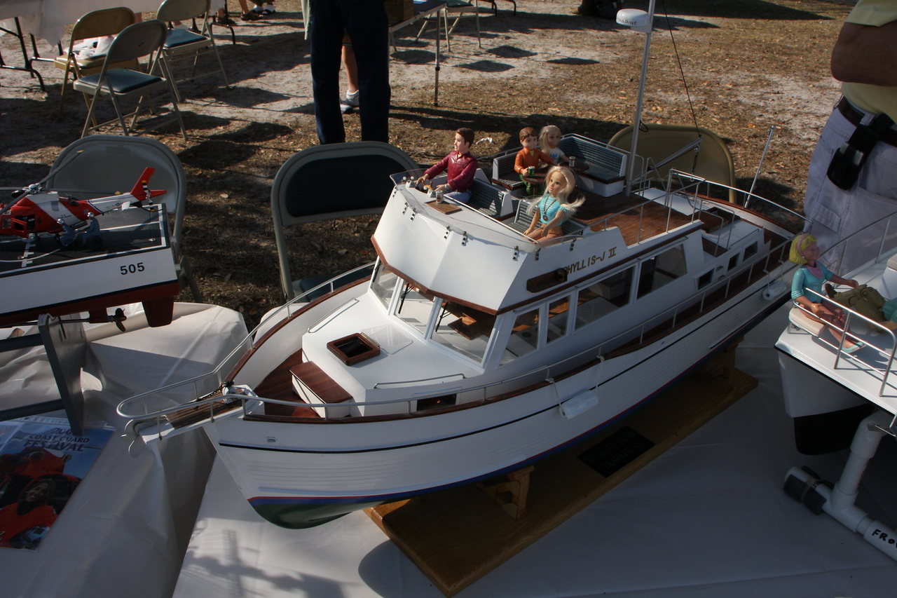 Exact working replica of a 36' Grand Banks