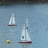 Remote control sailboats on the lake by Spanish Springs town square.