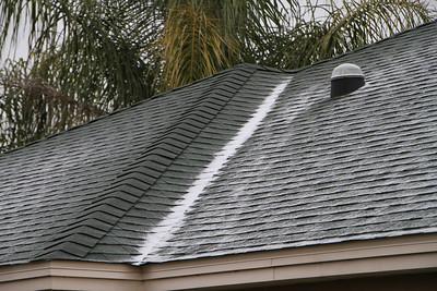 Our neighbors roof next door is dark green so it shows up better.