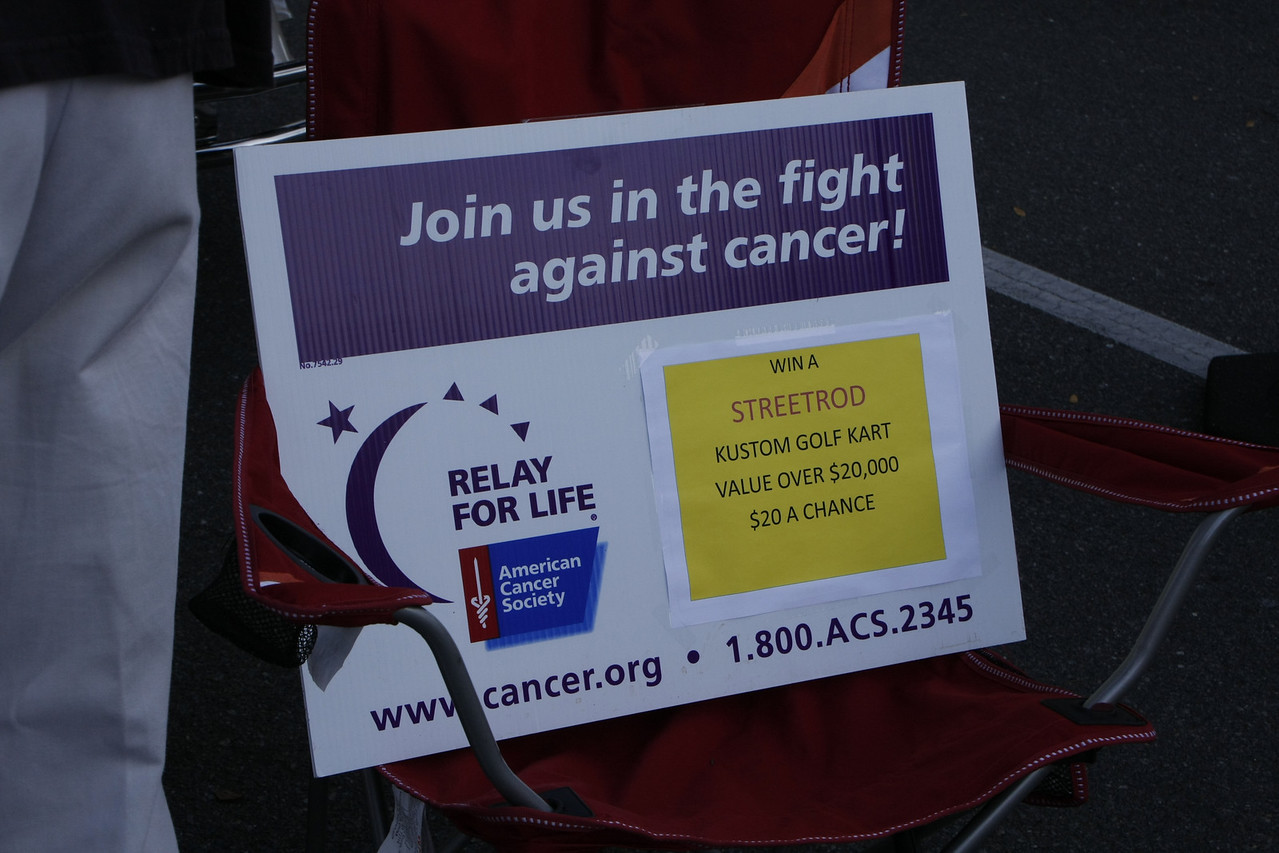 Relay for Life in combination with the American Cancer Society raffle a Streetrod to benifit the Cancer Society