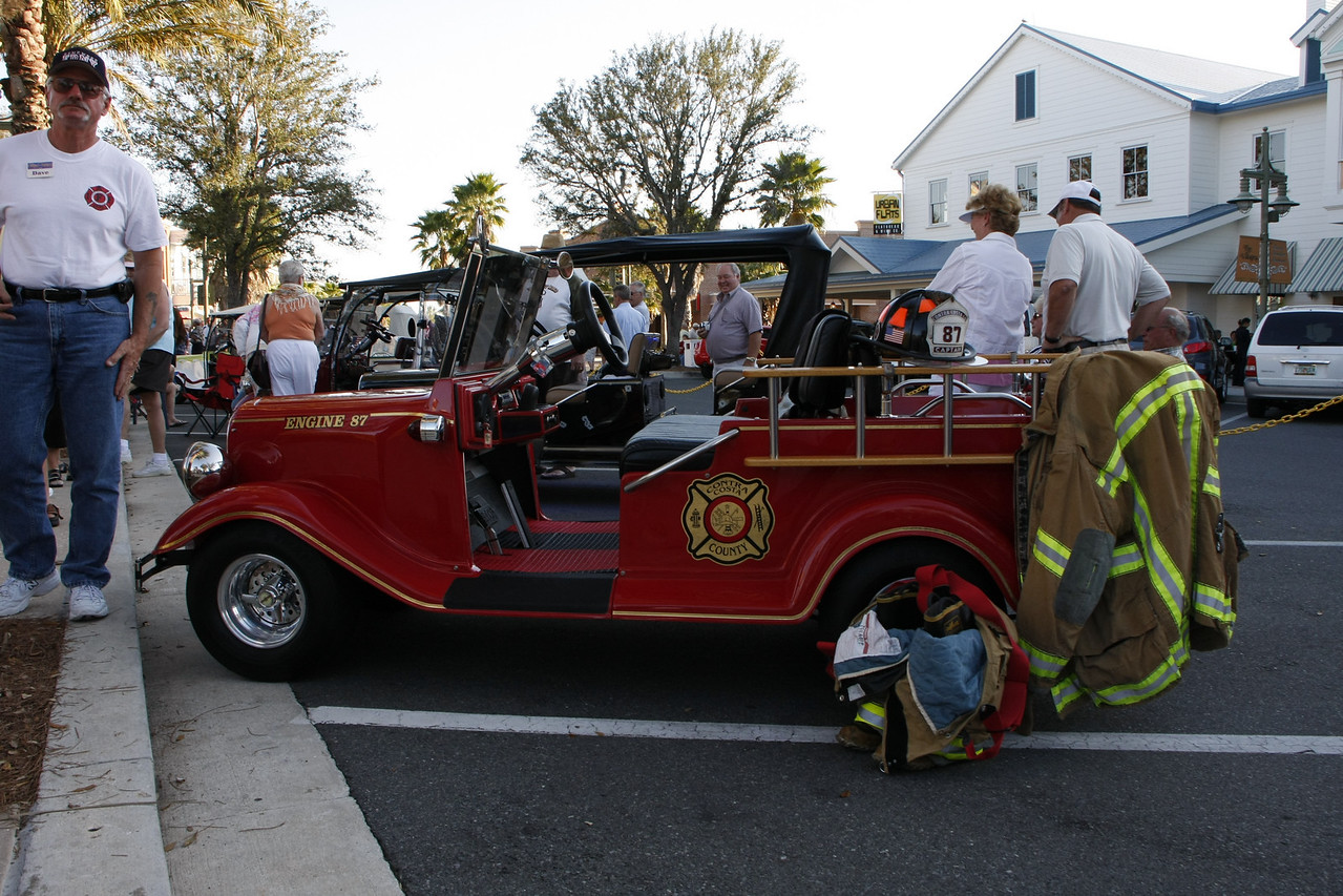 Let's see, do you think he is a retired fire fighter?