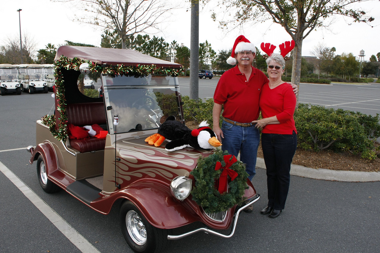 Ron & Lynda's Streetrod, ready for the 2008 Christmas parade