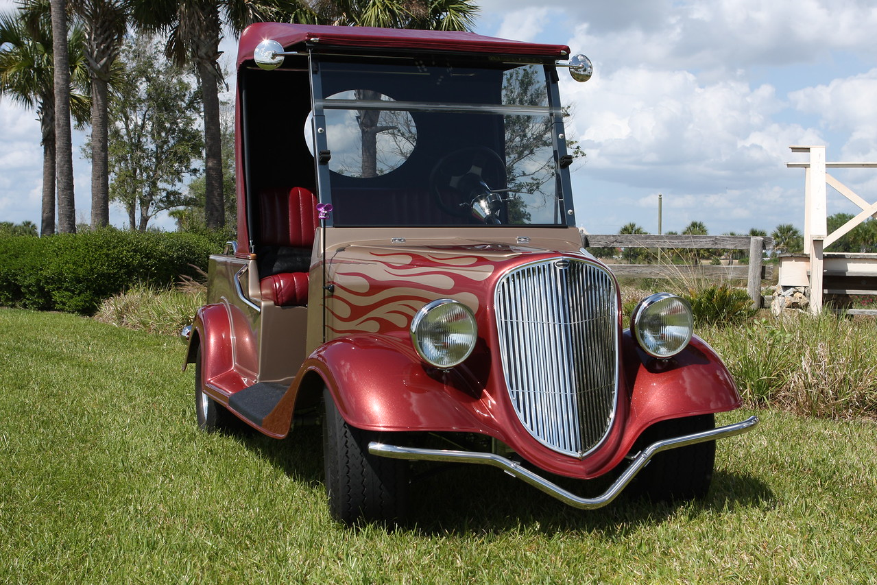 34 Ford Streetrod golfcart, custom built by Streetrod Productions in Iowa.