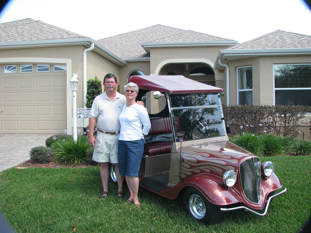 Ron & Lynda the proud owners
