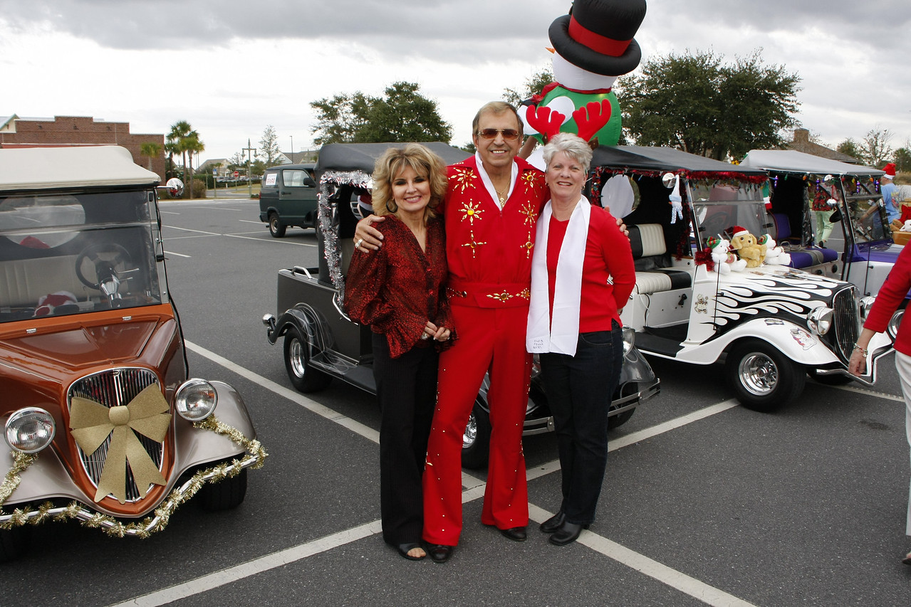 Pauline, Joe & Lynda ready for a Elvis Christmas