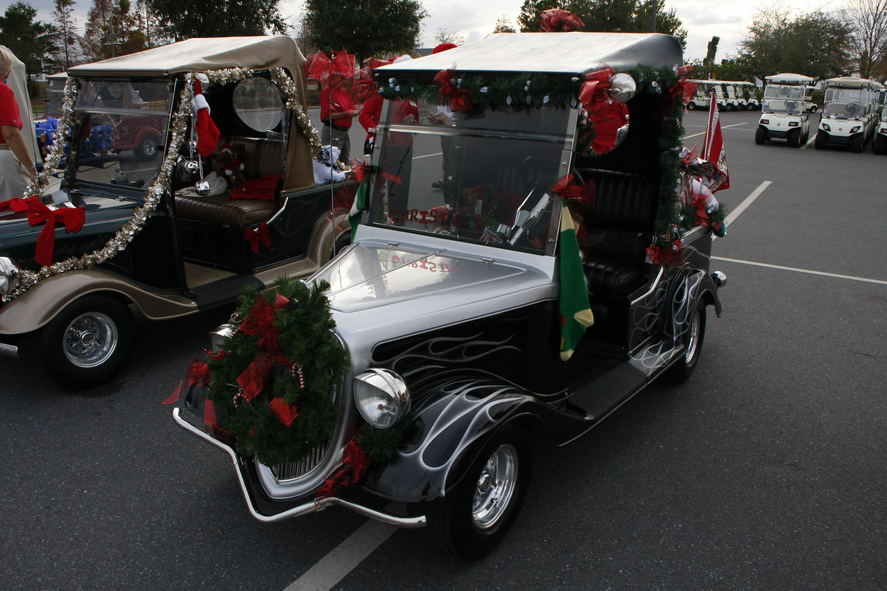 Mike & Judy Payne's Streetrod ready for the 2008 Christmas parade