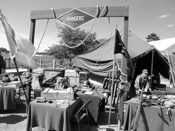 World War II Military Display at Sumter Landing