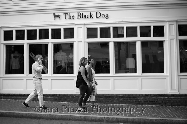 Edgartown, street photography, people, BW, summer streets