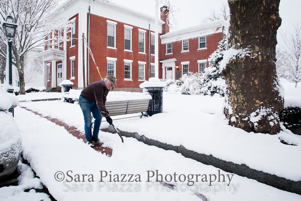 Edgartown News, spring snow, sara piazza photography