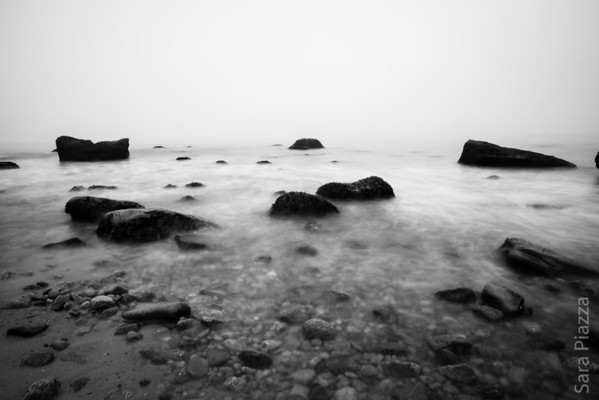long exposure photography, gay head, black and white photography, martha's vineyard landscape photography