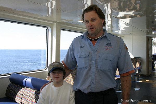 Boatswain's mate, Steve, and his son Jack.