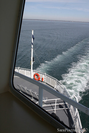 View from the bridge over the stern - 75' above the water.