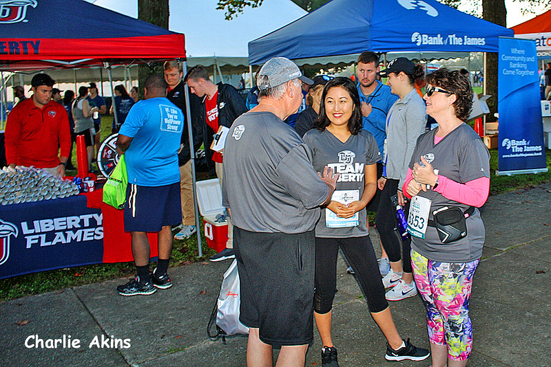 There were several booths at the Virginia 10 Miler.
