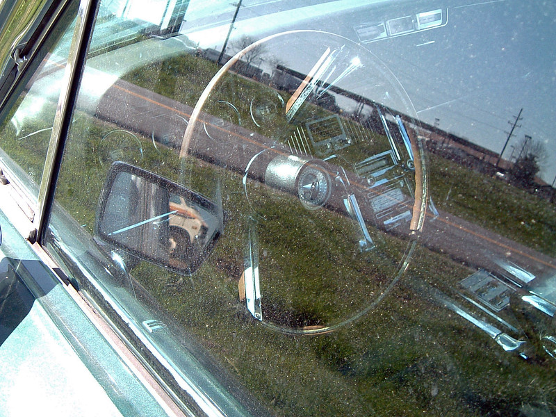 "1966 Ford Thunderbird for ""sail"" at the Truxton exit along I-70 outside of Warrenton, Missouri."