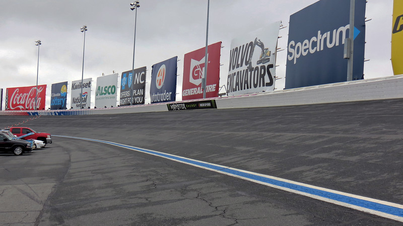 I continued on my walk around the track heading toward turn 4.