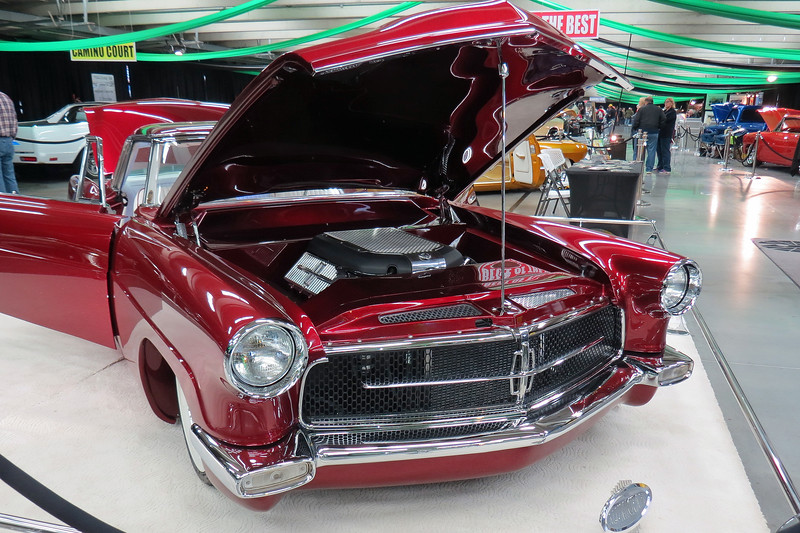 Speaking of Chris Ryan and Ryan's Rods and Kustom, the car in the photos above and below is of another one of his creations - a very rare 1956 Continental Mark II named the Scarlet Lady.