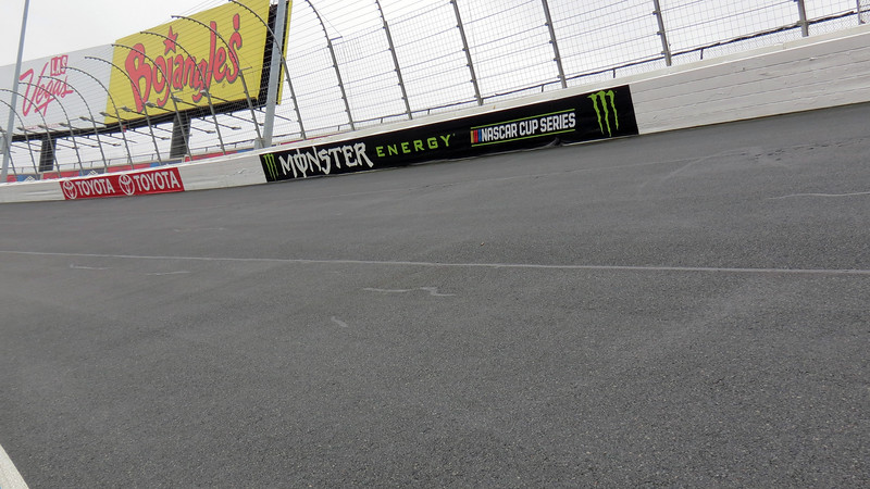 The 24-degree banking in between turns 1 and 2.