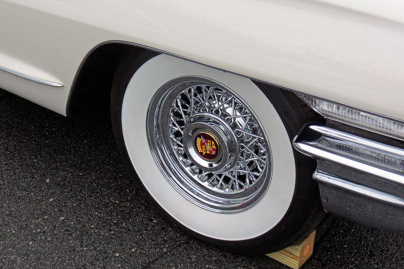 Rare Cadillac wire wheels.