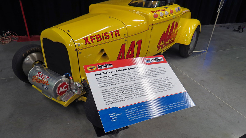 The car set a class record by going 152 mph at Bonneville in 1992.
