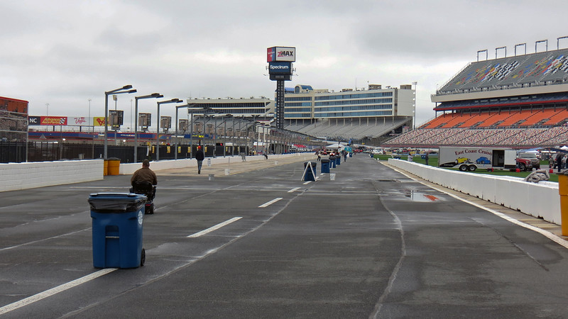 Looking down Pit Road.