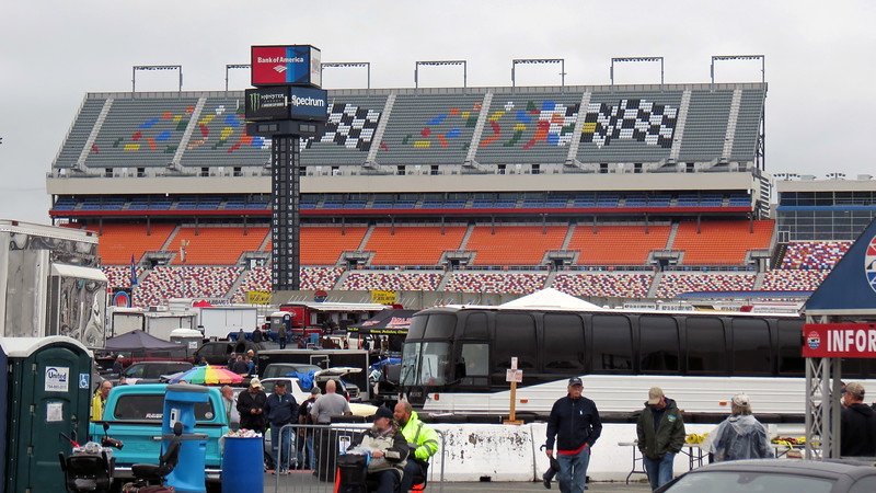 This was my first-ever visit inside the Charlotte Motor Speedway.  I quickly discovered just how enormous the speedway is !