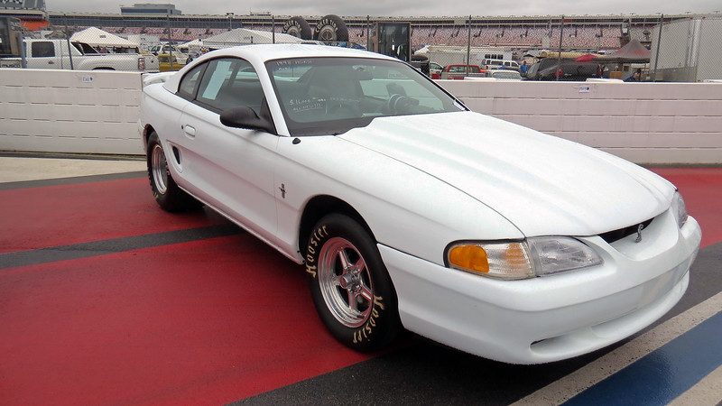 Next to the Fairlane was a modified 1998 Ford Mustang.